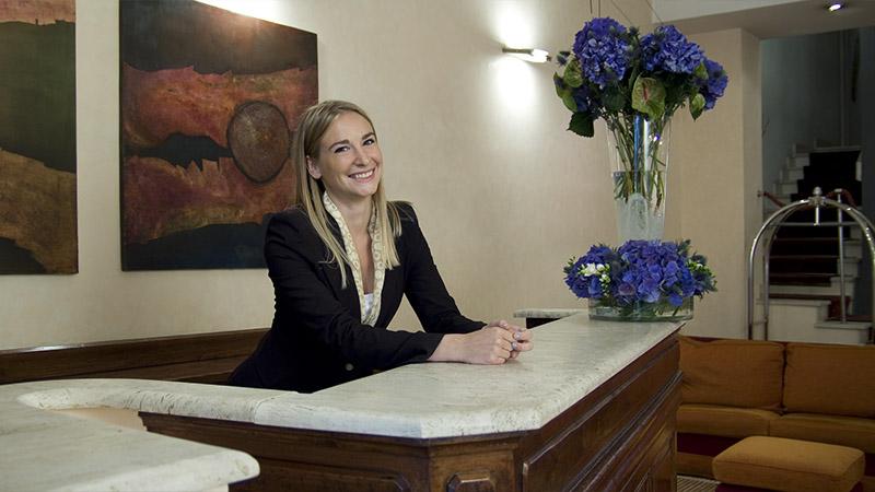 Reception Hotel Columbia Roma 3 stelle