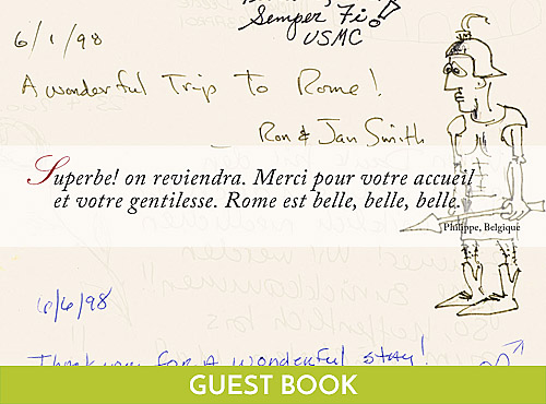 Guestbook Hotel Columbia Roma