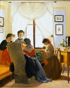 03_Odoardo Borrani, Cucitrici di camicie rosse (1863), già collezione Edoardo Bruno rid