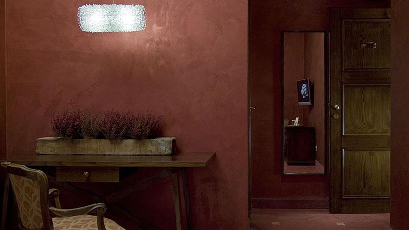 Interni camera hotel Roma