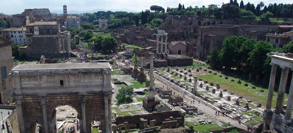 View of Roman Forum and Santa Maria Antiqua