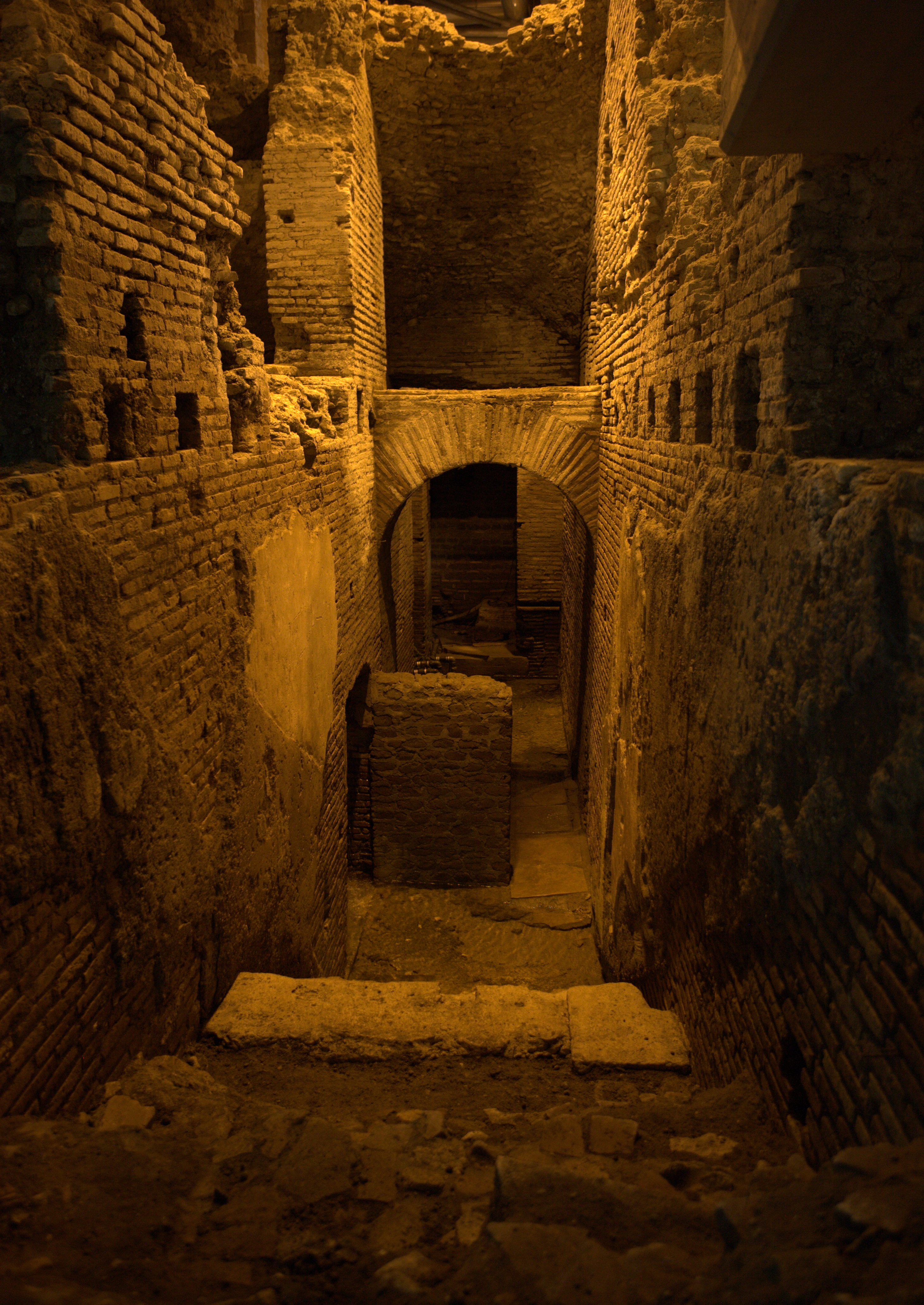 Underground Archeological area of Vicus Caprarius The City of Water